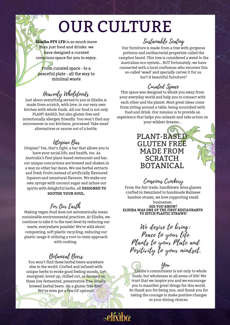 Elixiba | Plant Based Restaurant and Alchemy Bar | The Vegan Experience